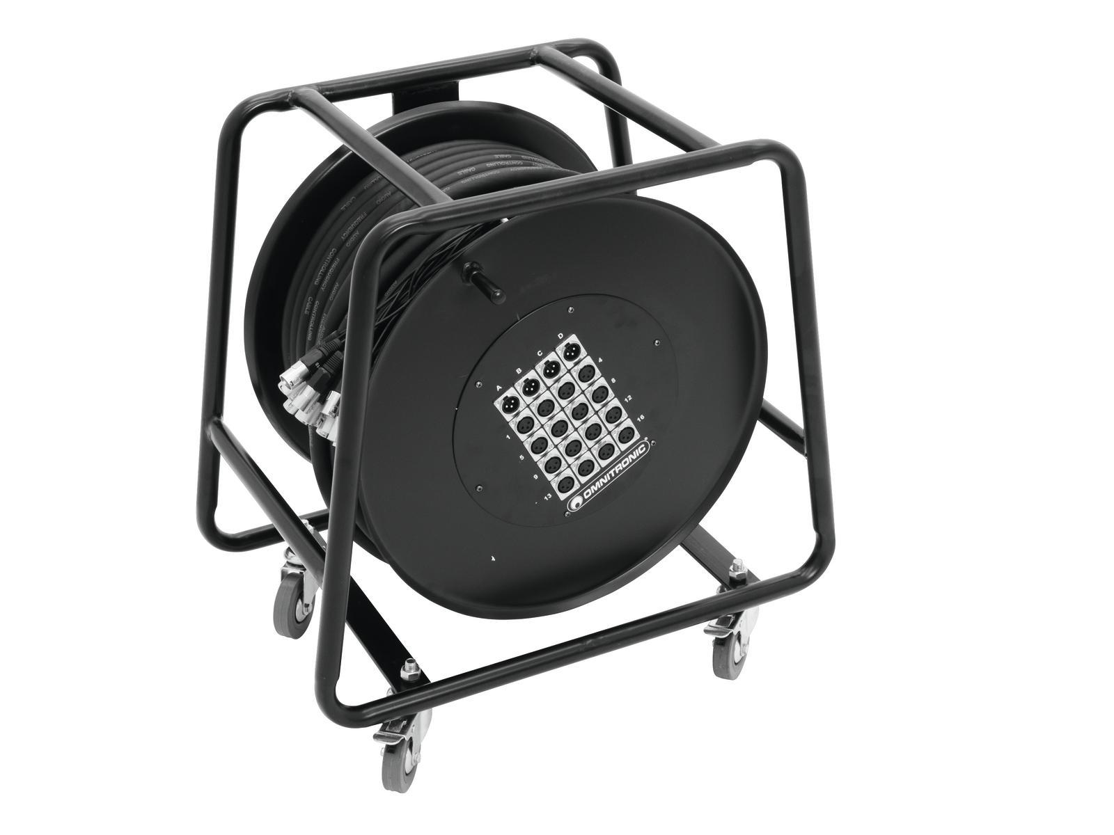OMNITRONIC Multicore Stagebox 16/4 50m Trommel
