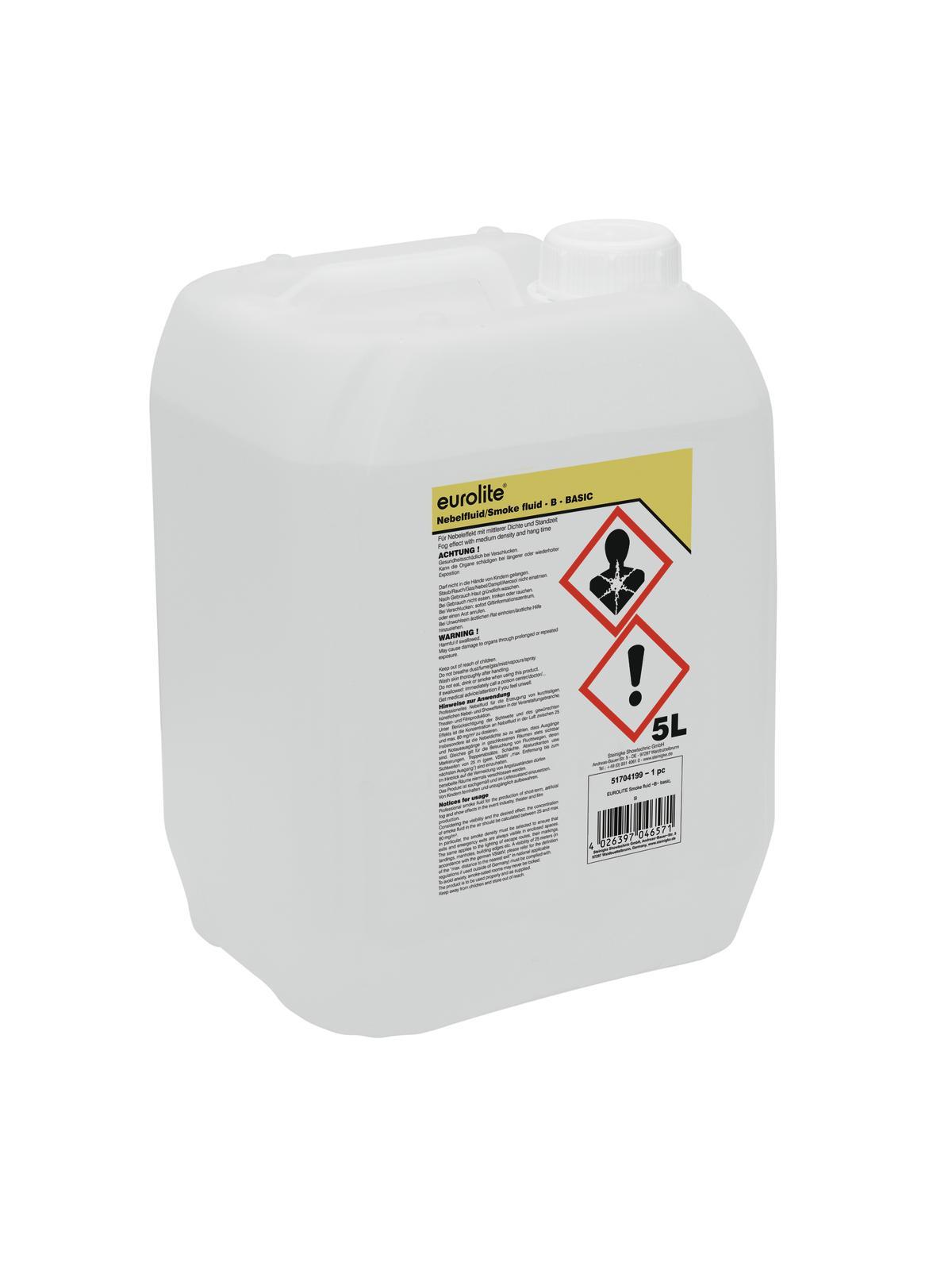 Liquido tanica per macchina del fumo effetto nebbia 5 litri EUROLITE