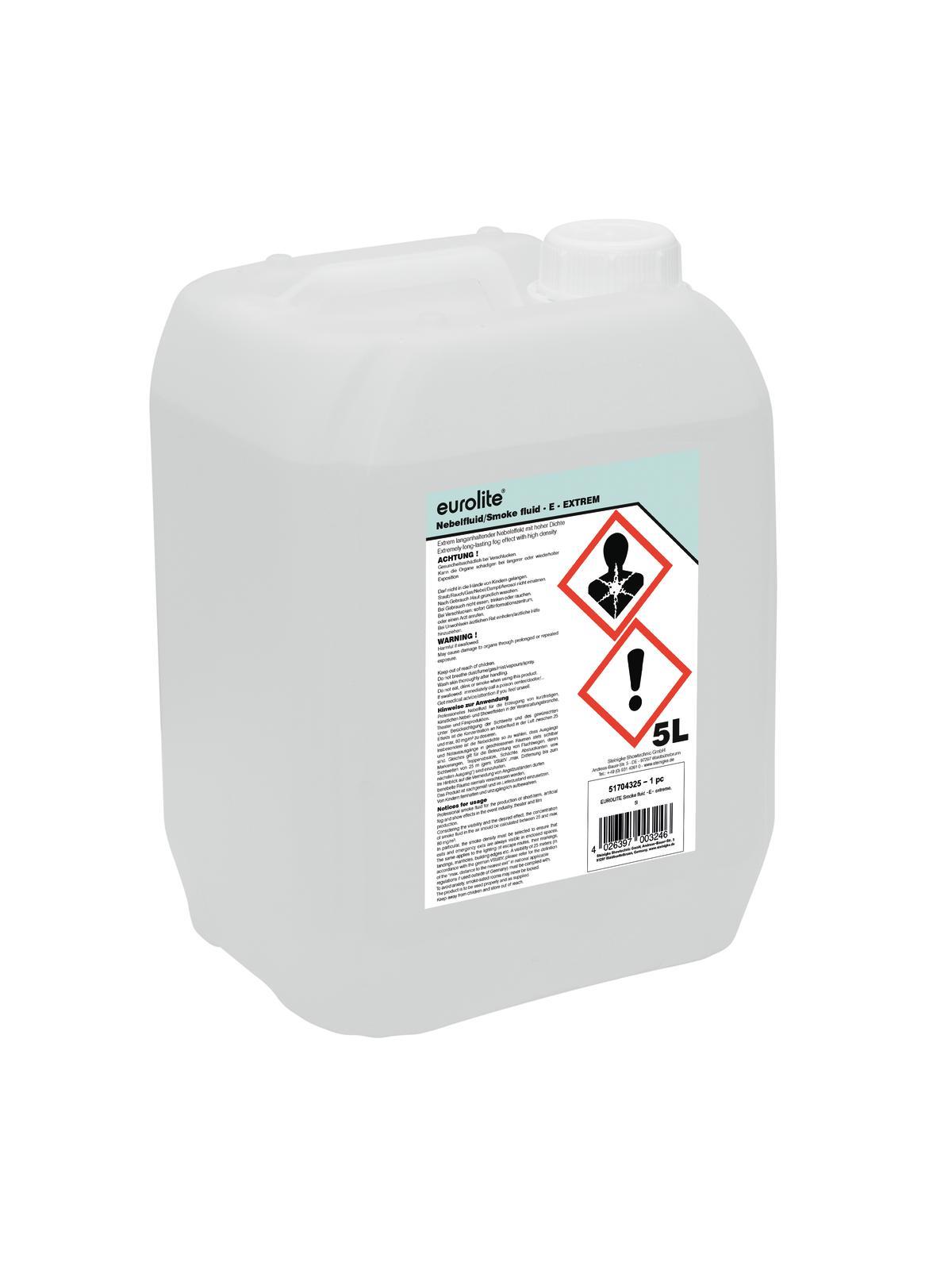 Liquido per macchina del fumo estremo, 5 litri, EUROLITE