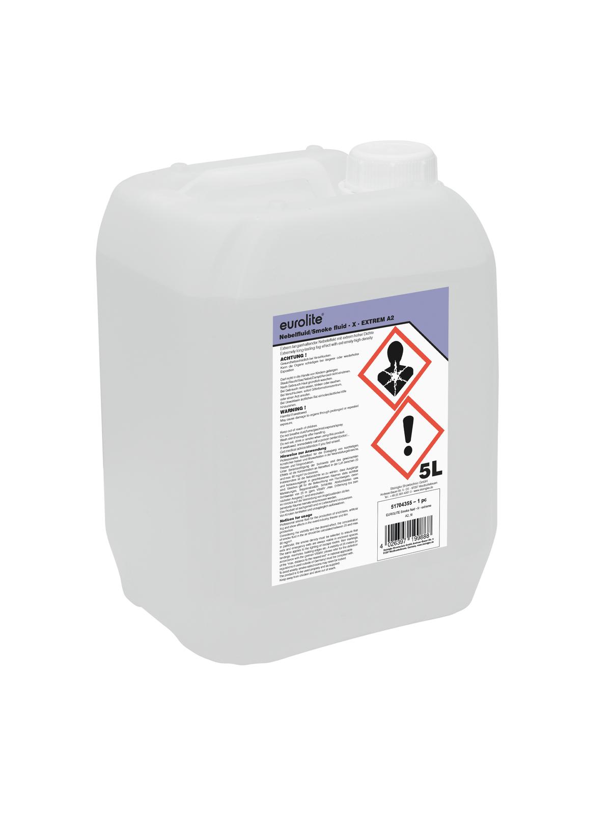 Liquido per macchina del fumo, 5 litri, EUROLITE extreme A2