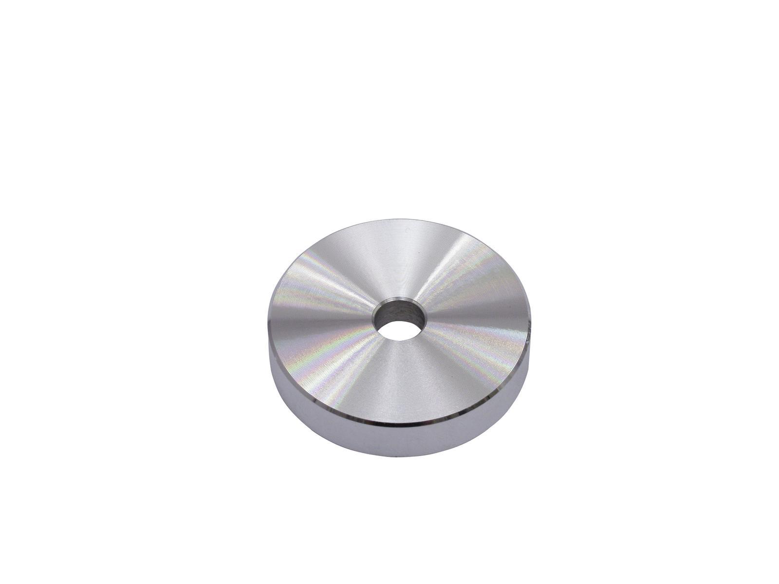 OMNITRONIC Puck Single-Mittelstück Aluminium silber
