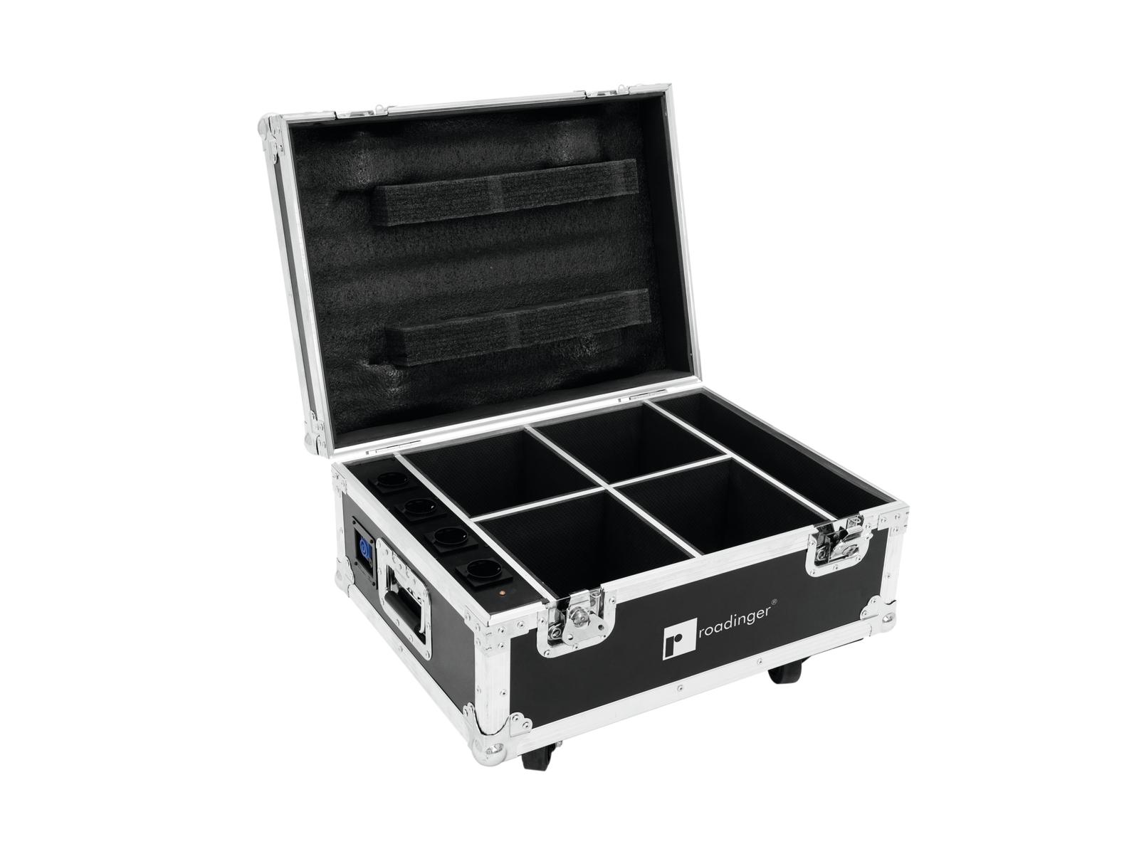 ROADINGER Flightcase 4x AKKU U