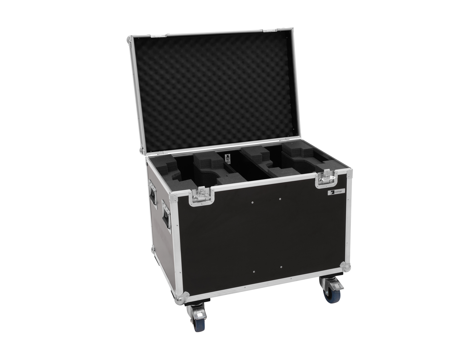 ROADINGER Flightcase 2x LED TMH-X10