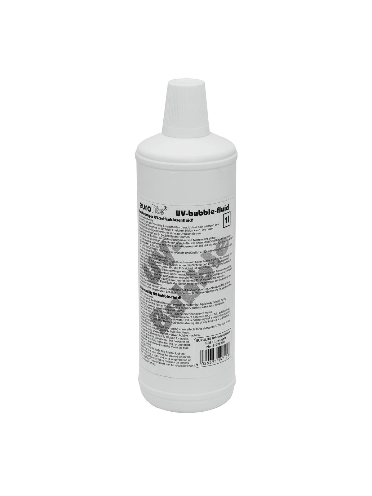 Liquido per macchina delle bolle di sapone, 1 litro, giallo, EUROLITE UV