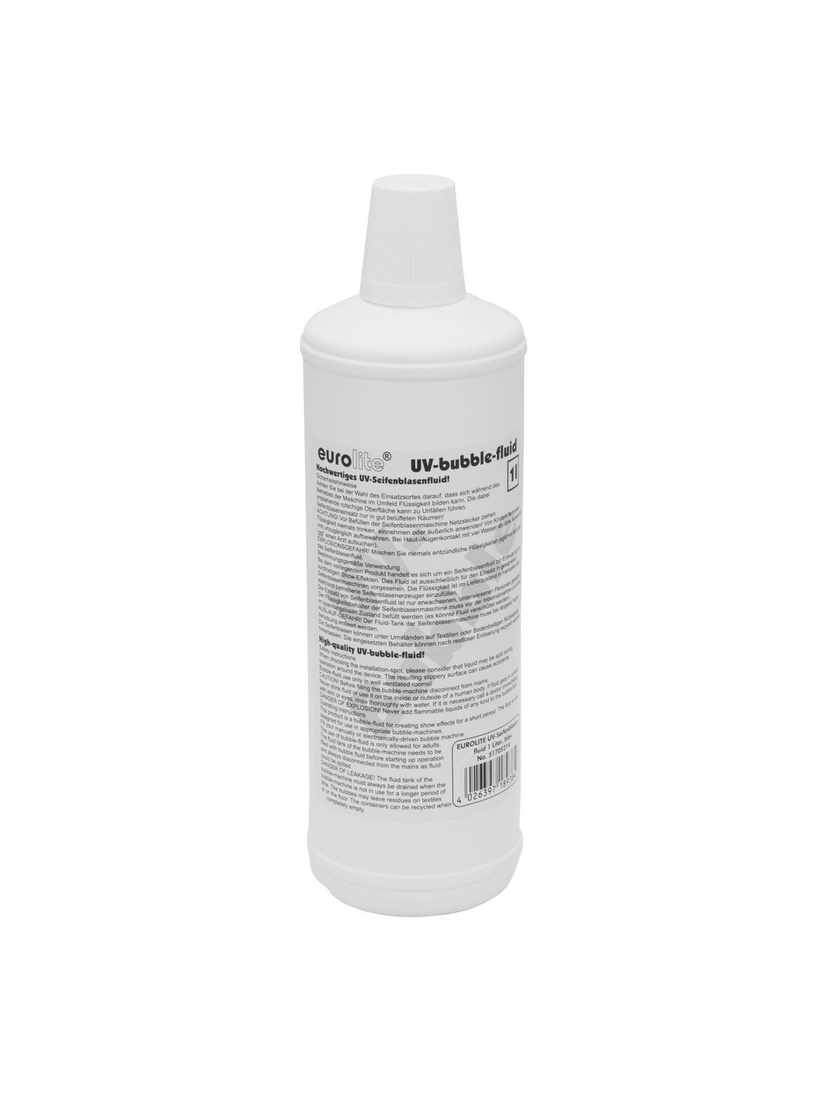 Liquido per macchina delle bolle di sapone 1 litro blu EUROLITE UV