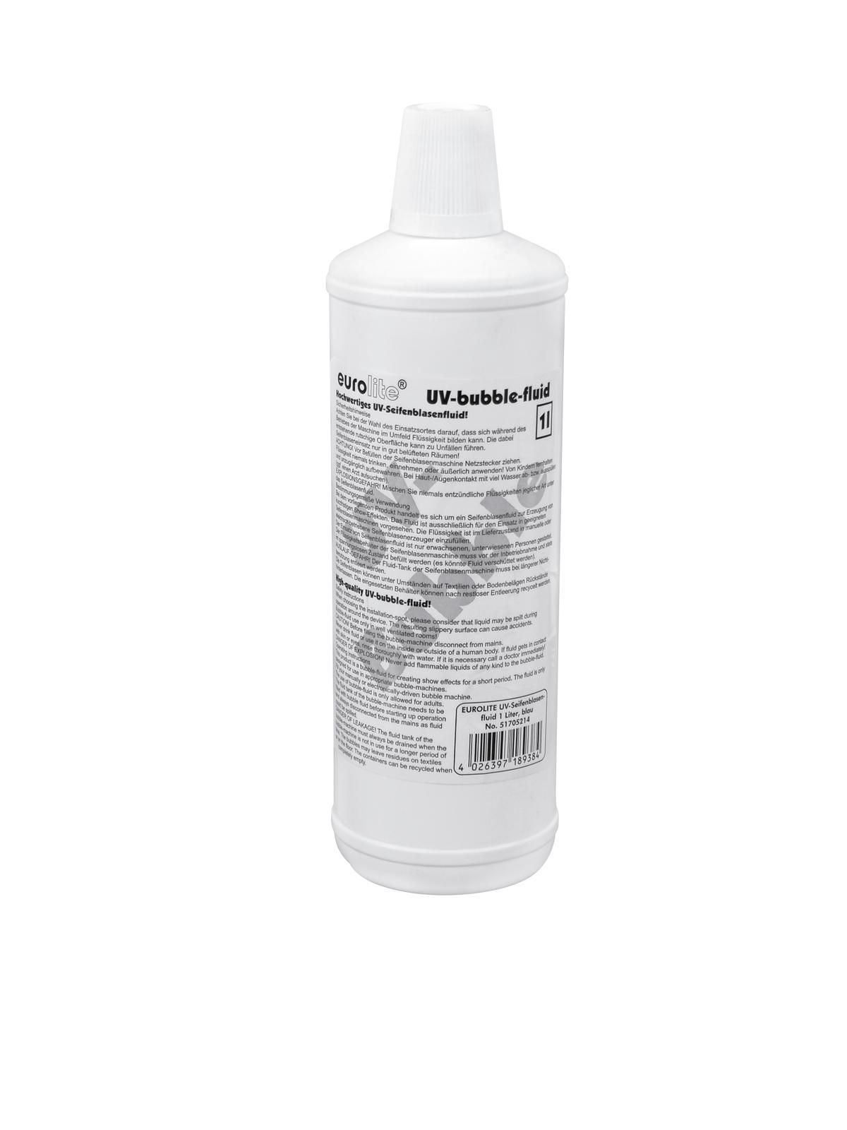 EUROLITE UV-Seifenblasenfluid Set 3x1l