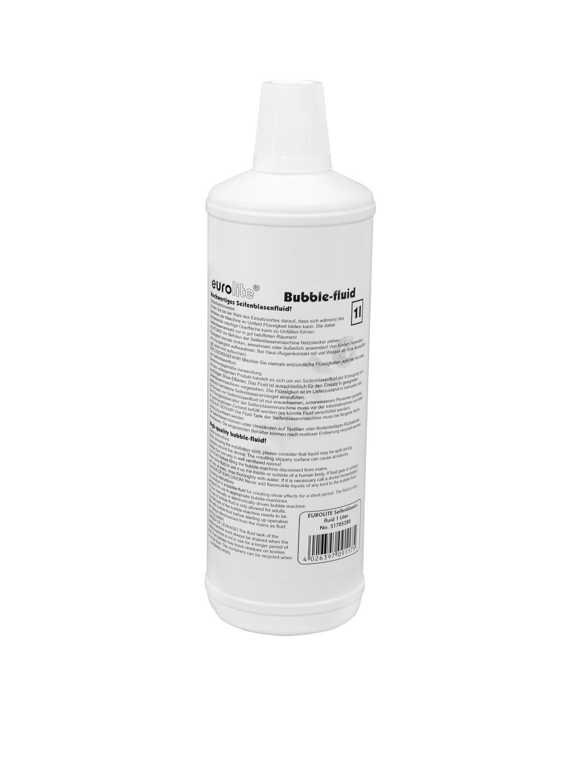 Liquido per macchina delle bolle di sapone, 1 litro, EUROLITE