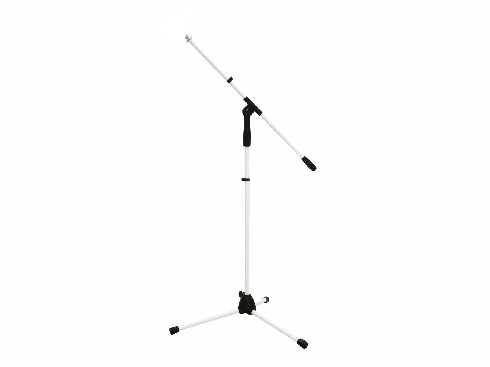 OMNITRONIC Microfono Treppiede MS-1W con Braccio bianco