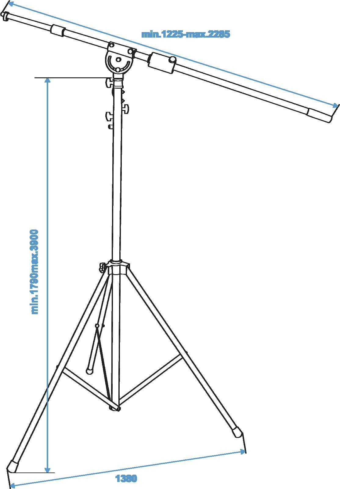 OMNITRONIC asta supporto a giraffa  per microfono,altezza regolabile