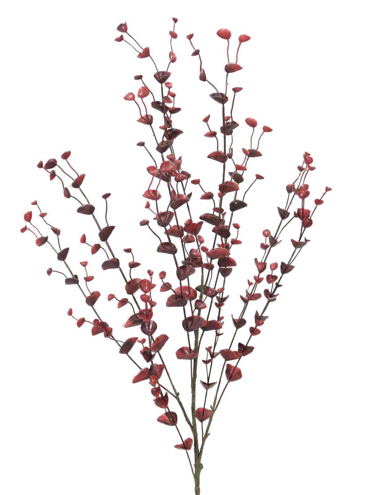 EUROPALMS pianta artificiale di Eucalipto a spruzzo, rosso, 110 cm