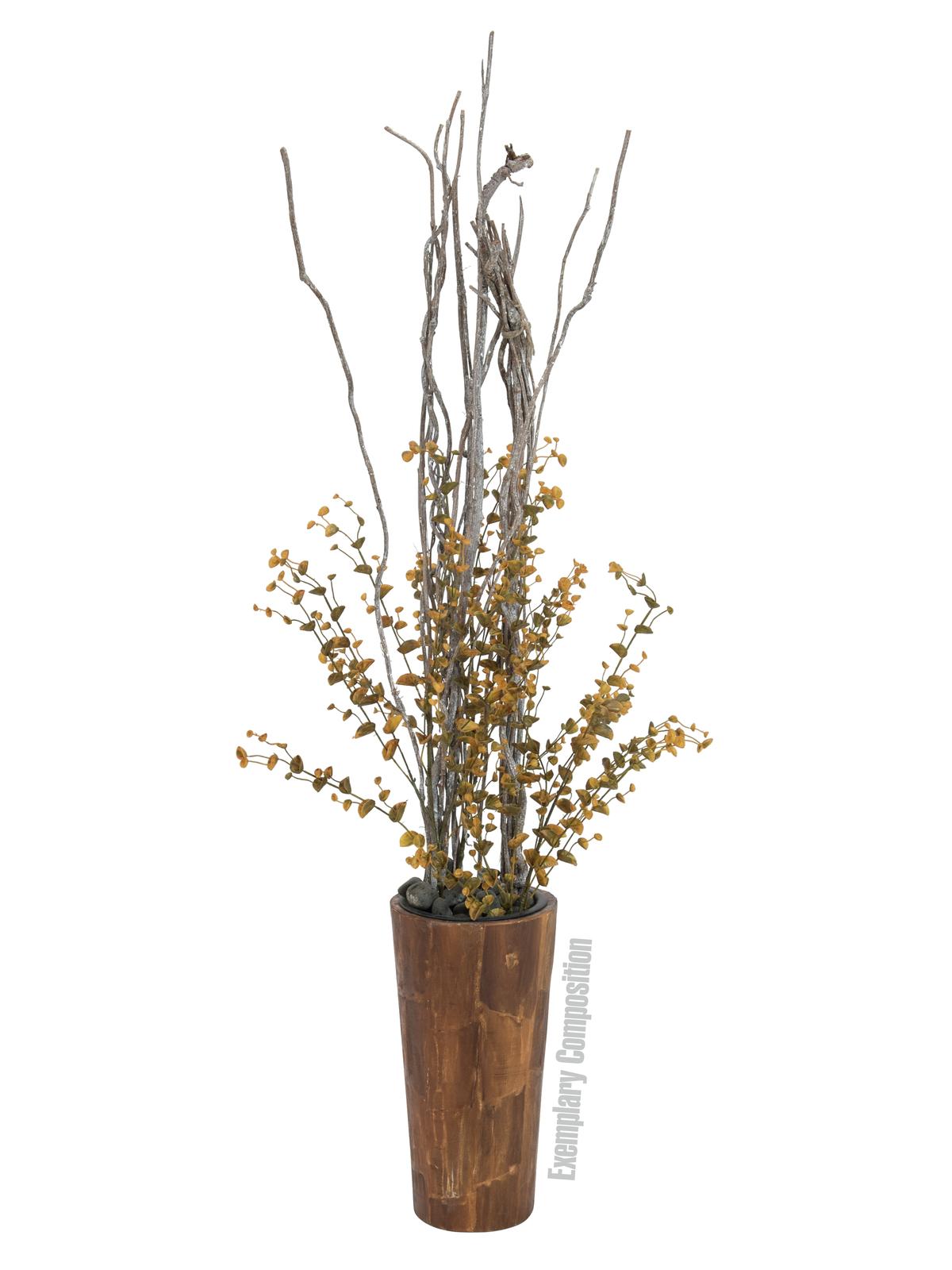 EUROPALMS Eucalipto spray di colore giallo-verde, 110 cm