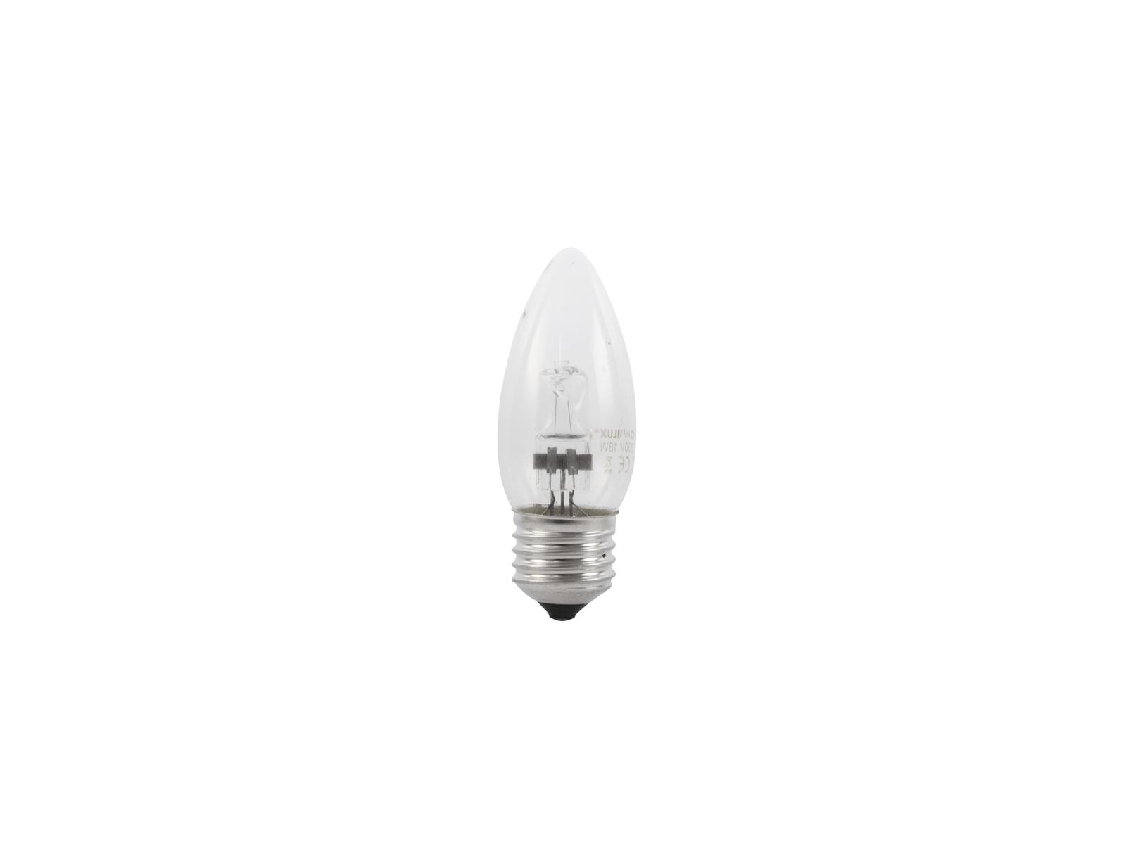 OMNILUX 230V/28W E-27 Kerzenlampe clear H