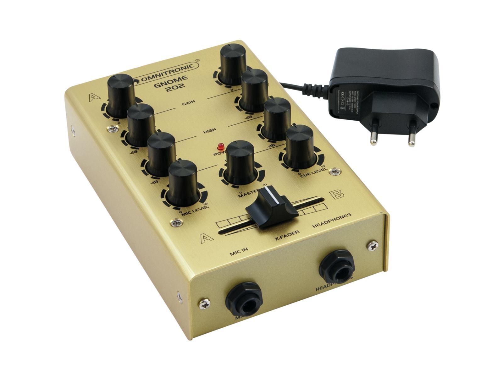 OMNITRONIC GNOME-202 Mini-Mixer gold