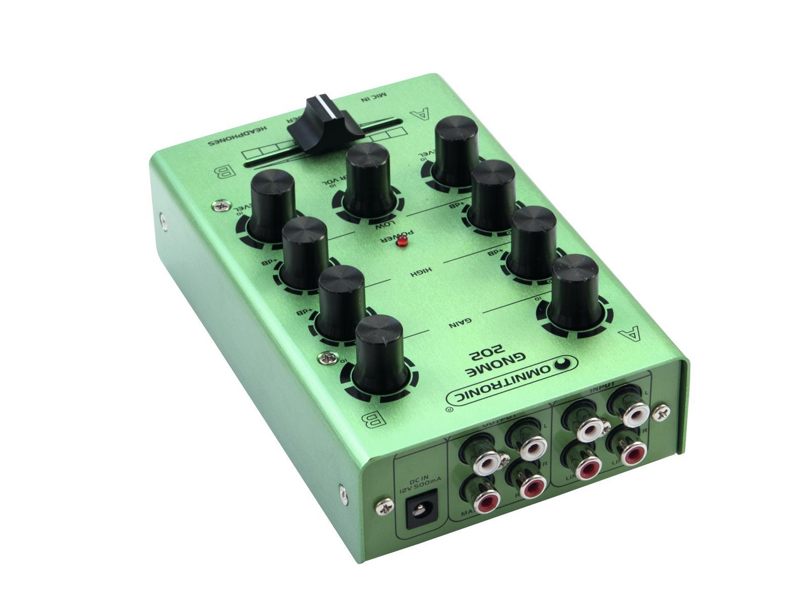 OMNITRONIC GNOME-202 Mini-Mixer grün