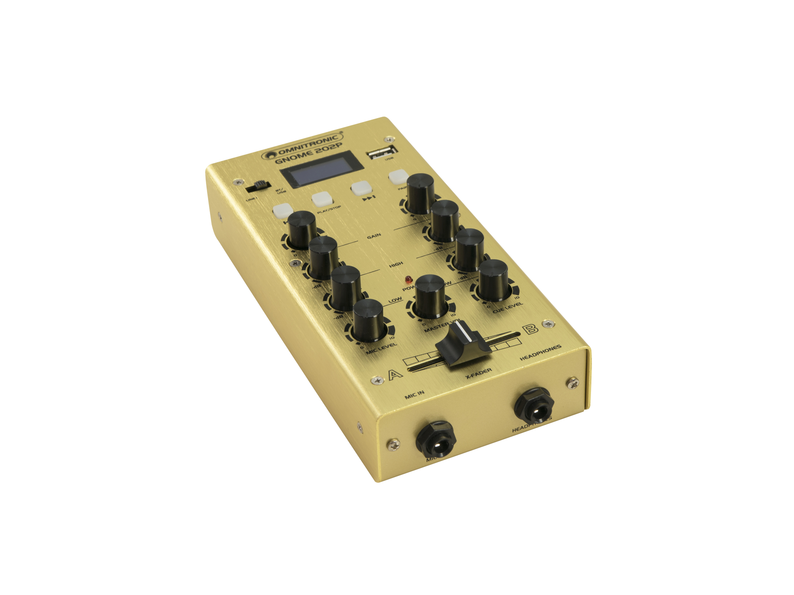 OMNITRONIC GNOME-202P Mini-Mixer gold