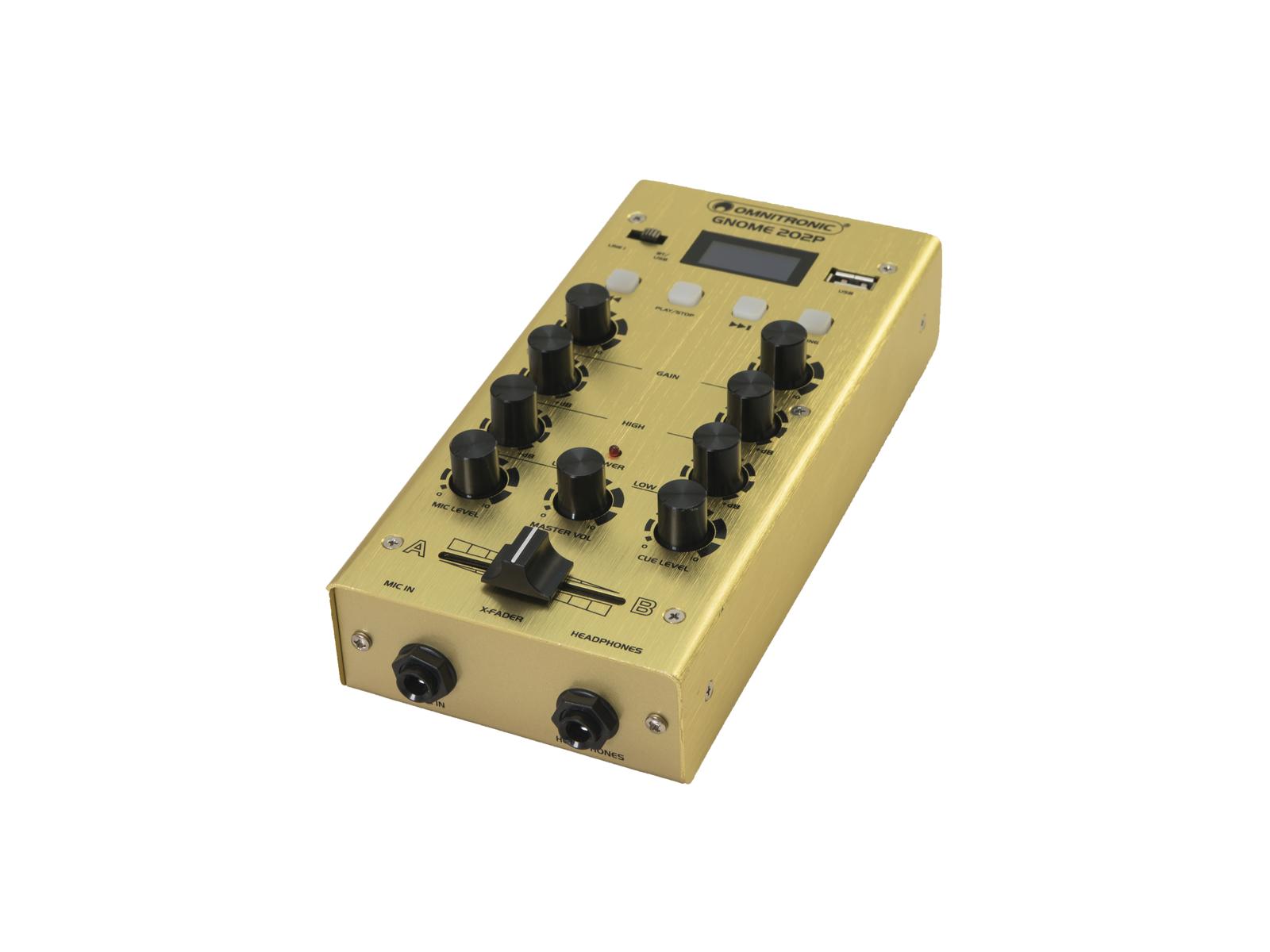 OMNITRONIC GNOME-202P Mini-Mixer gold