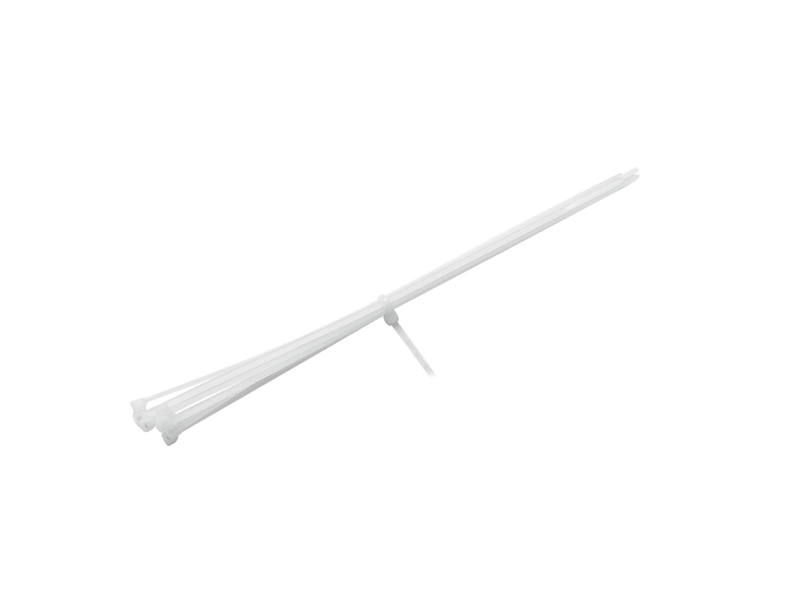EUROLITE Cavo cravatta 200x2.5mm bianco 100x