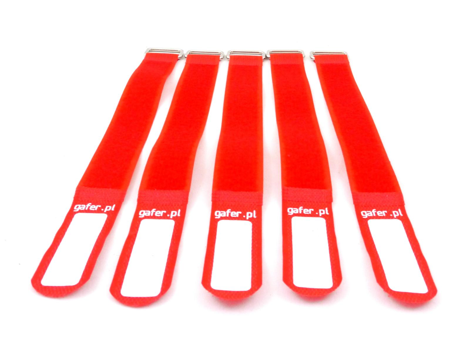 GAFER.PL Legare le Cinghie 25x400mm 5 pezzi rosso