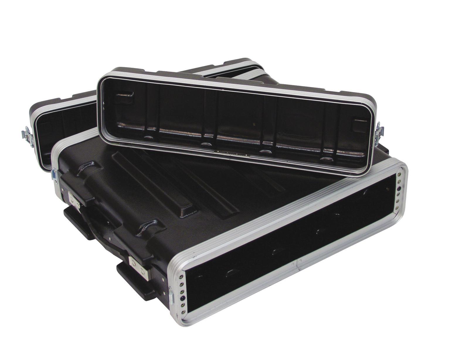 ROADINGER Plastica rack KR-19, 2U, DD, nero