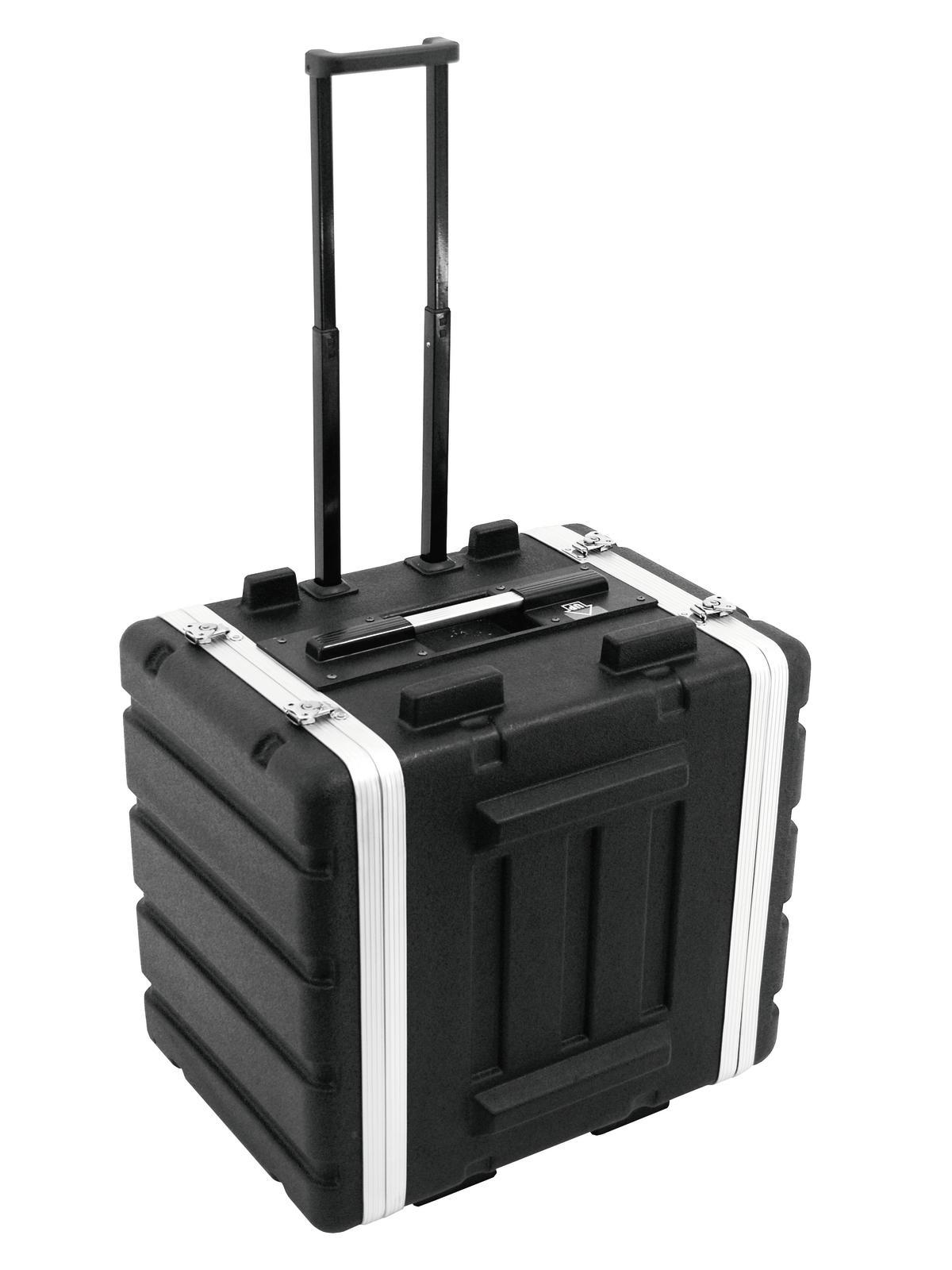 ROADINGER Plastica rack 19, 7U, DD/trolley, nero
