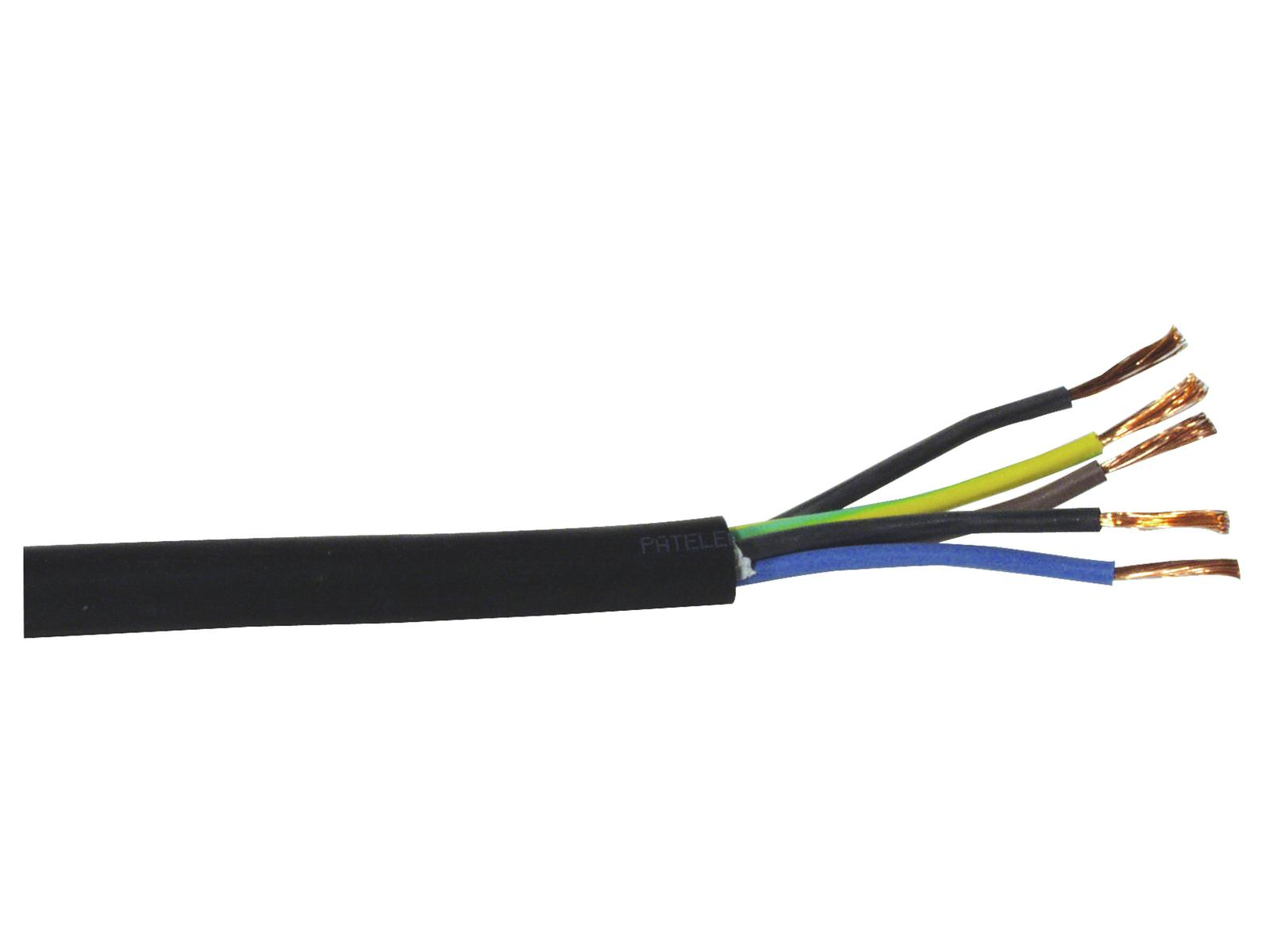 Power supply cable HELUKABEL 5x2,5 25m H07RN-F