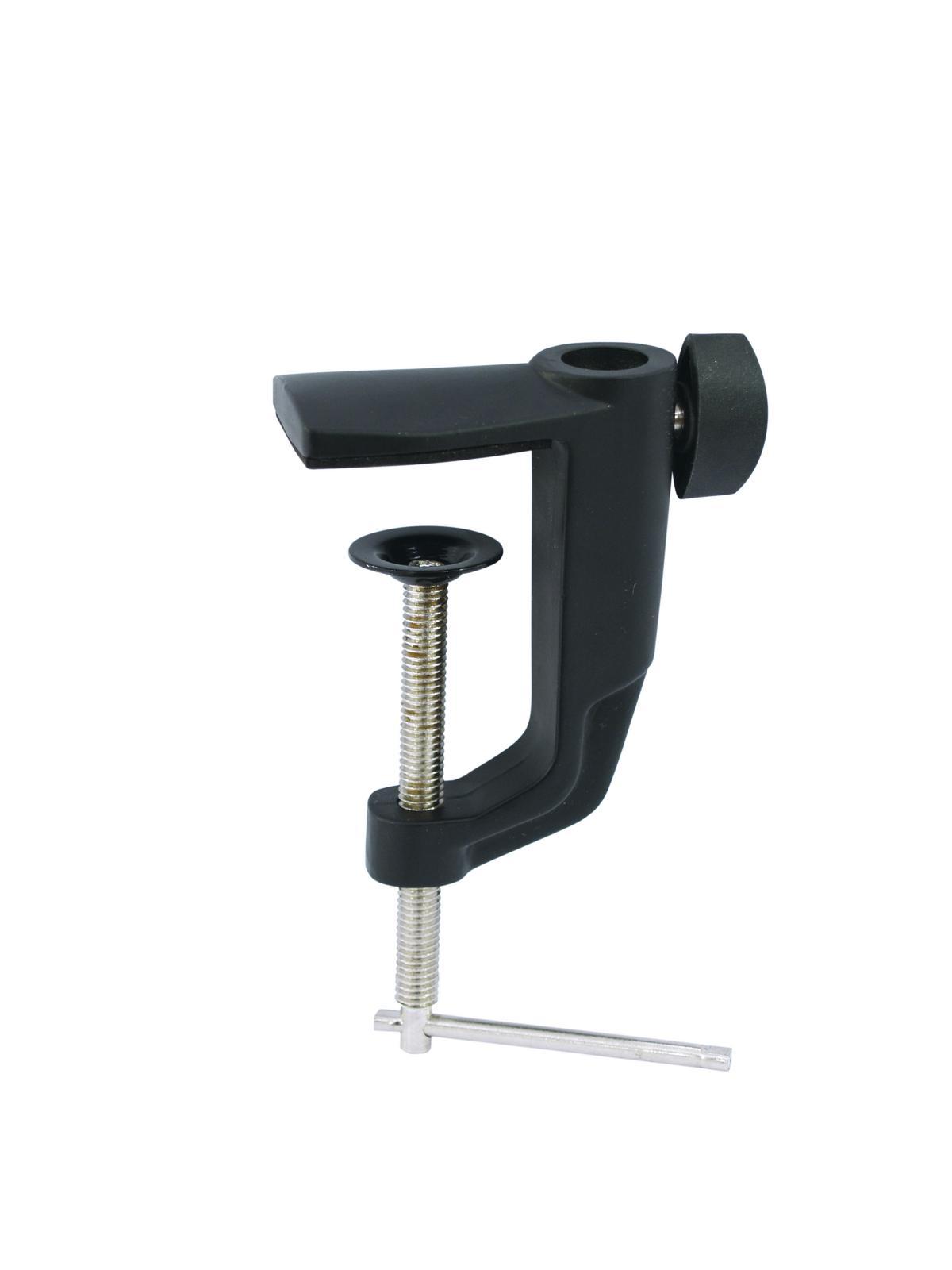 OMNITRONIC supporto braccio staffa, morsetto a vite per microfono da tavolo