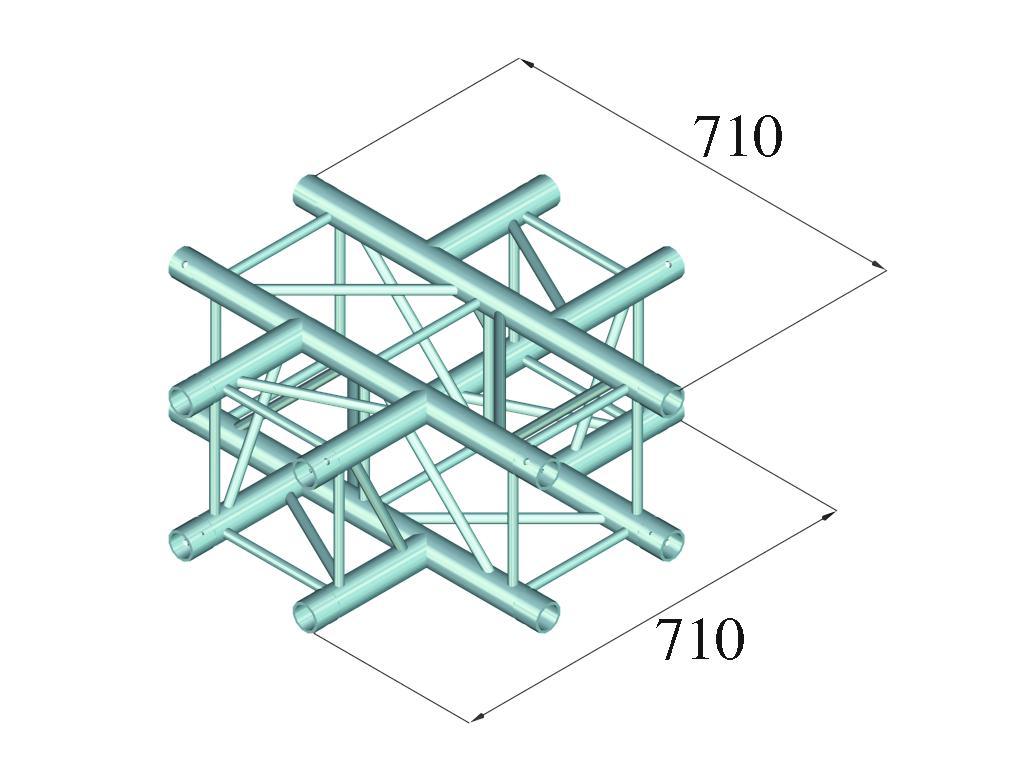 ALUTRUSS QUADLOCK 6082C-41 4-way pezzo a croce