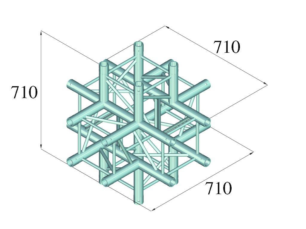 ALUTRUSS QUADLOCK 6082C-61 6-modo pezzo a croce