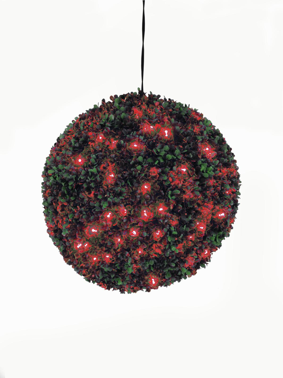 EUROPALMS allestimento di natale sferica a led rosso, 40cm