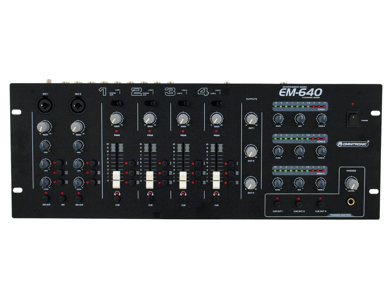OMNITRONIC EM-640B Intrattenimento mixer