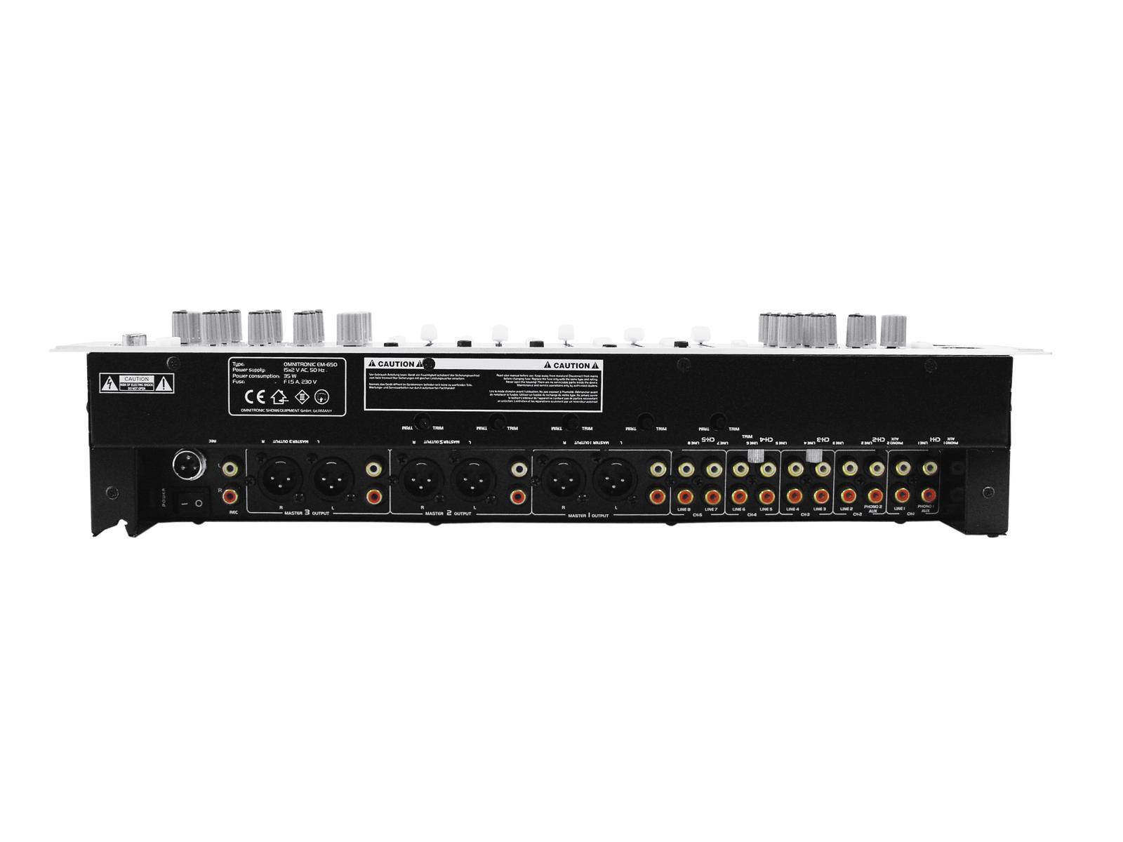 OMNITRONIC EM-650 Entertainment-Mixer