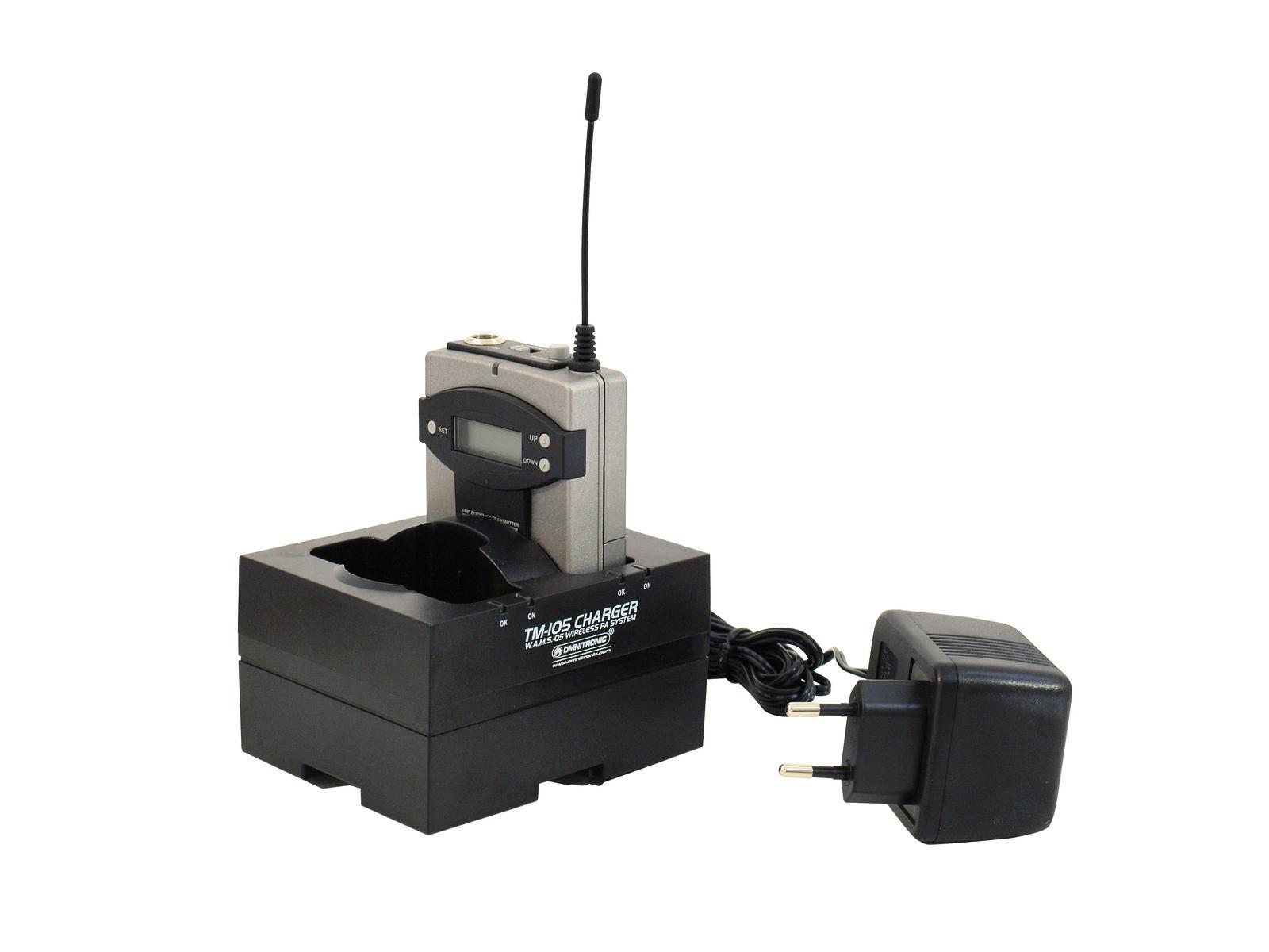 OMNITRONIC caricatore batterie per trasmettitori tascabili  TM-105