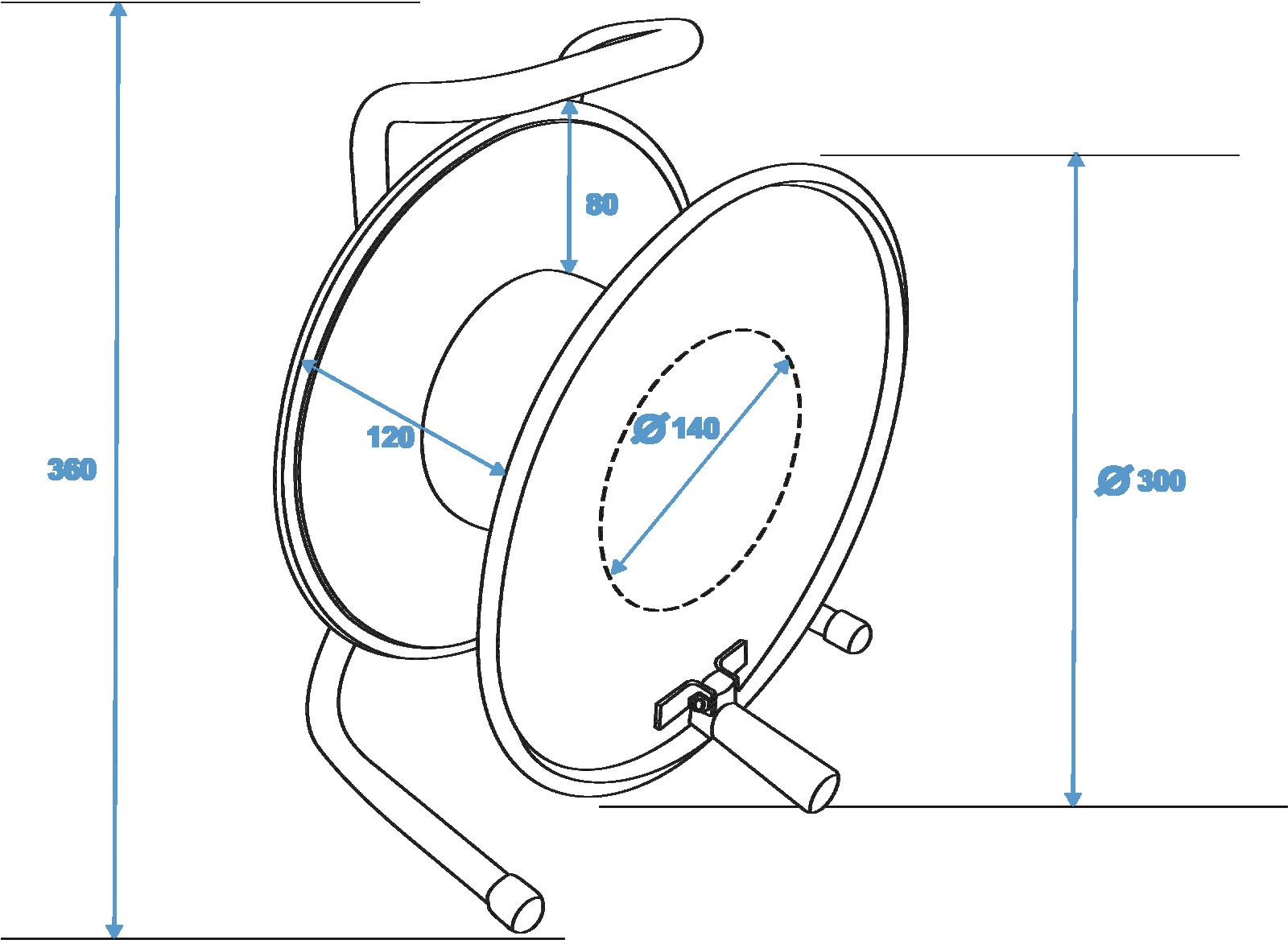 SCHILL tamburo HT300.QUINDI A=300/C=125