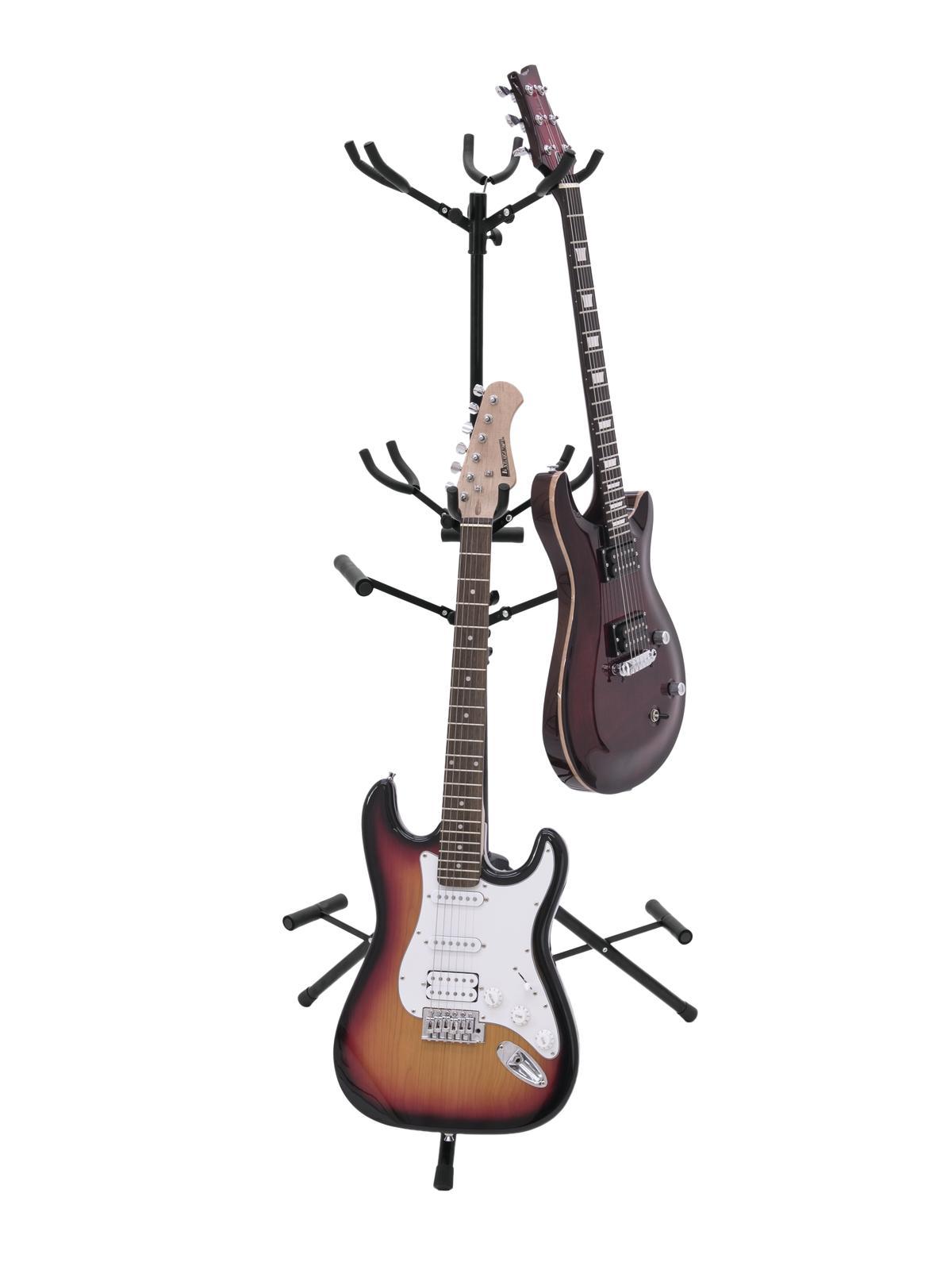 Stand Supporto da terra per 6 chitarre o bassi omnitronic