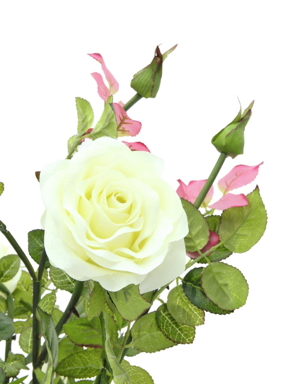 EUROPALMS pianta artificiale arbusto di Rose, 86cm