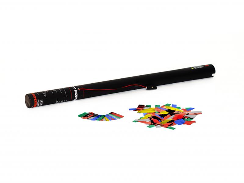 TCM FX Cannone Sparacoriandoli Elettrico 80 cm, multicolore metallizzato