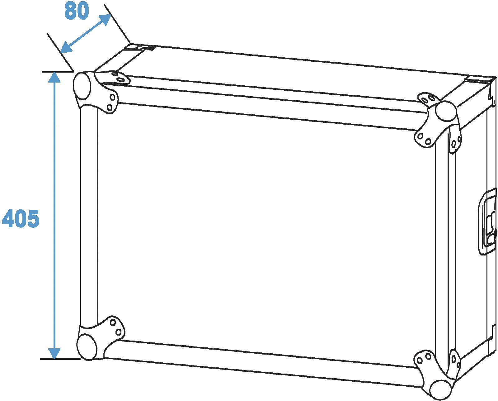 ROADINGER Rack Profi 8U 45 cm con ruote
