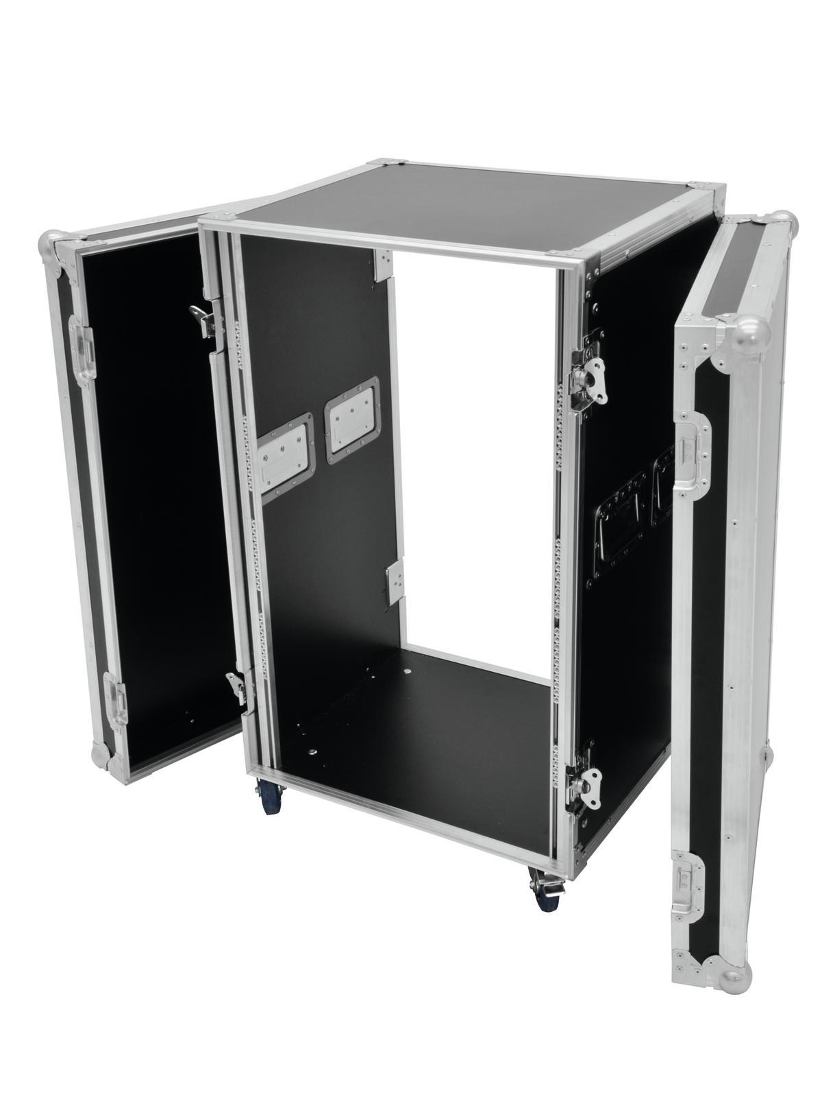 Flight case Rack Per il trasporto Di amplificatori 20U, 45cm Profi ROADINGER Ner