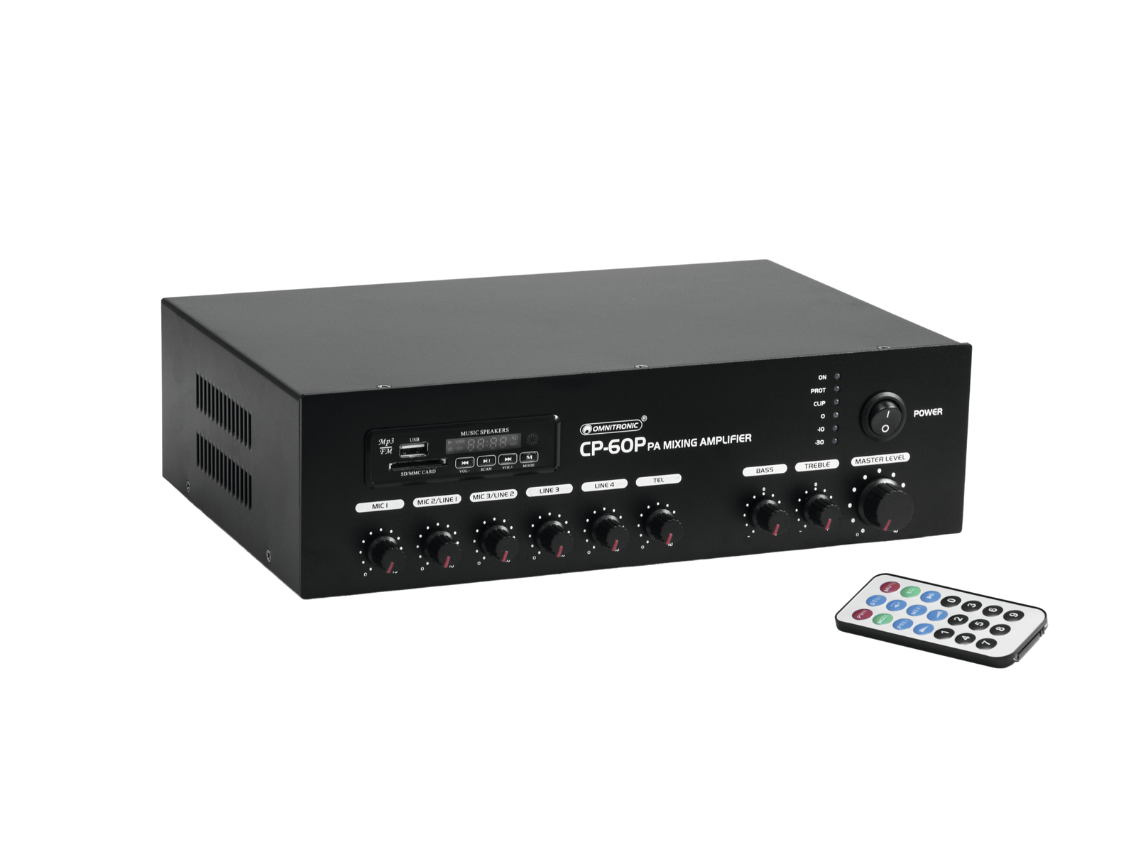 OMNITRONIC CP-60P PA mixing Amplifier with audio player and Bluetooth