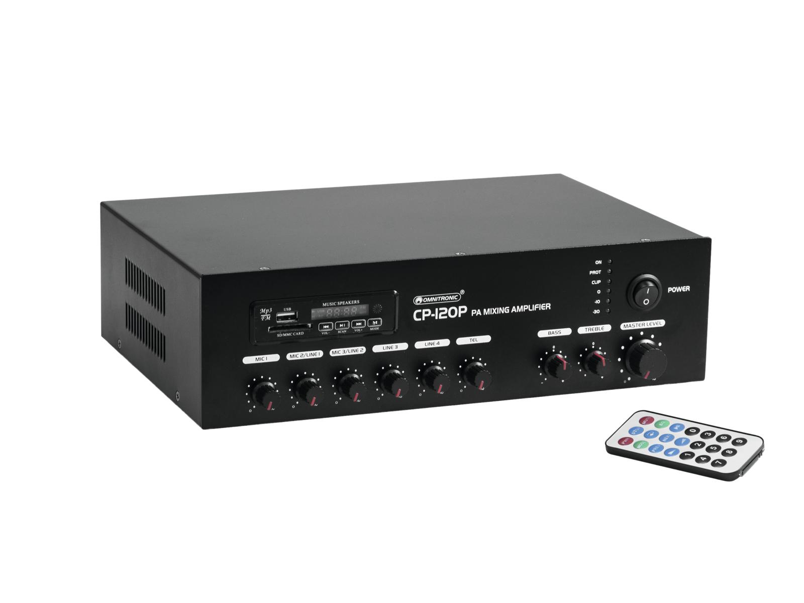 OMNITRONIC CP-120P PA mixing Amplifier