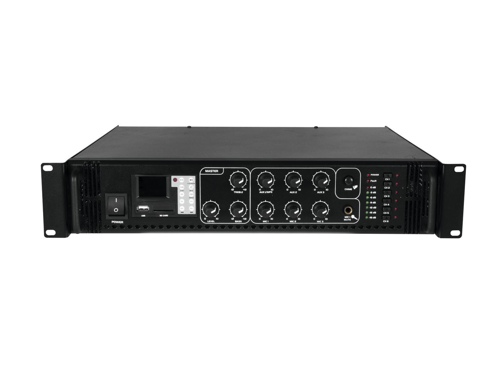 OMNITRONIC MPZ-180.6 P amplificatore mixer 180 W MP3 con telecomando IR