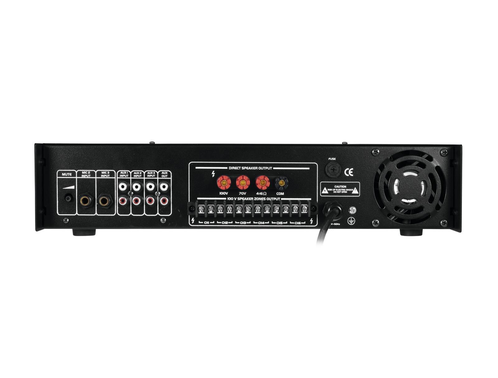OMNITRONIC MPZ-250.6 P amplificatore mixer MP3 SD USB telecomando 250 W