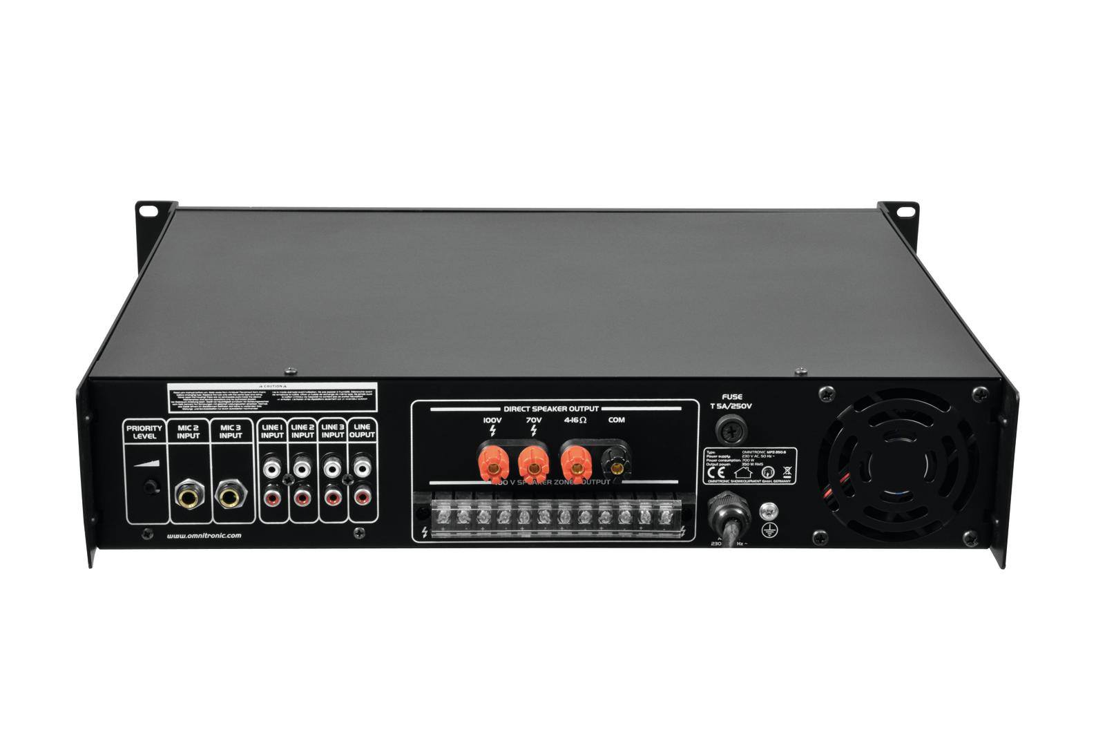 OMNITRONIC MPZ-350.6 amplificatore mixer 350 W