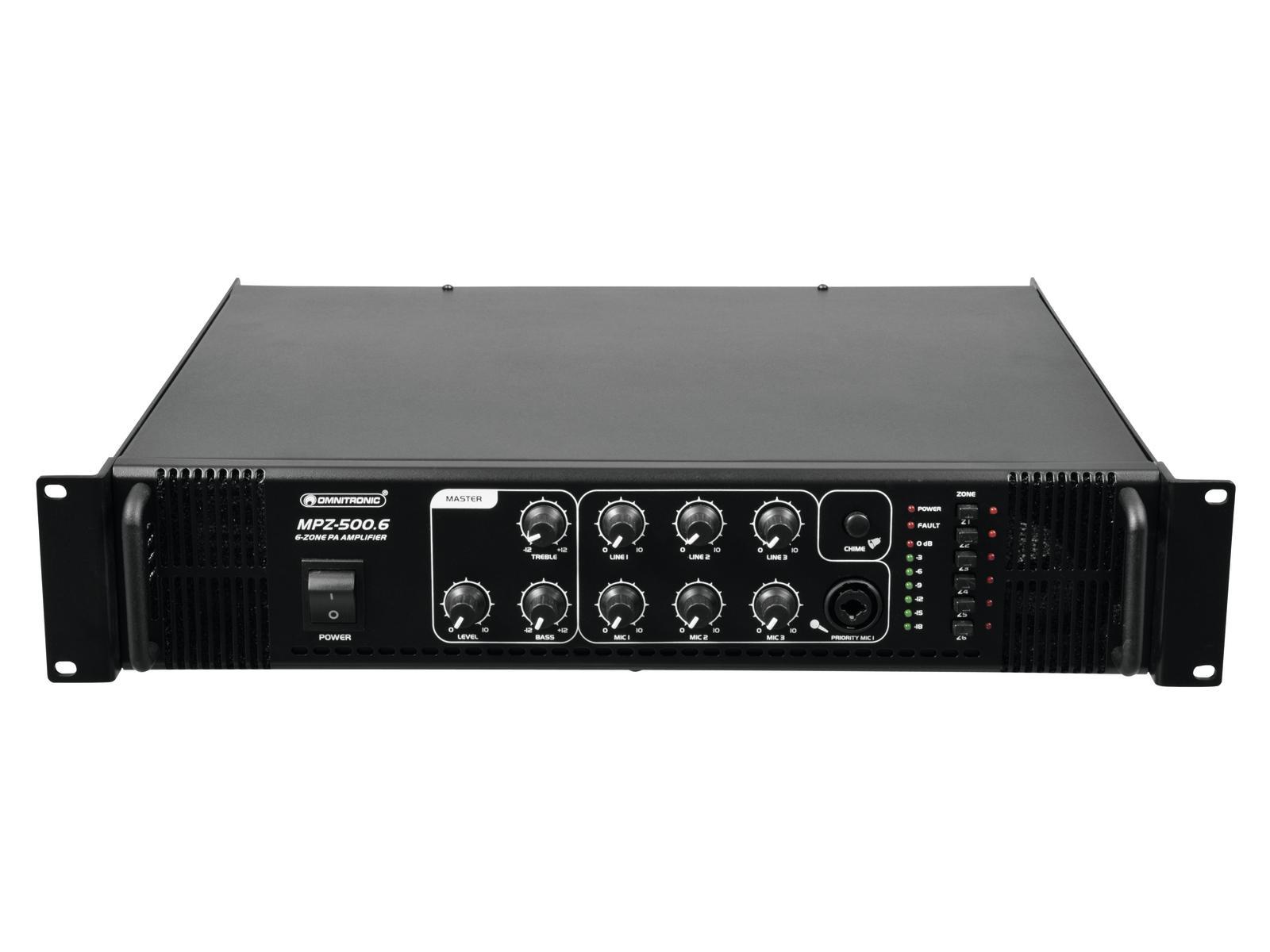 OMNITRONIC MPZ-500.6 amplificatore mixer 500 W
