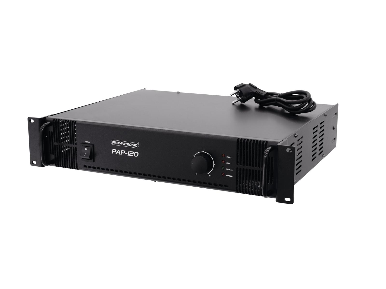 Amplificatore PA 120 watt 70 V, 100 V or 4-16 ohms OMNITRONIC PAP-120