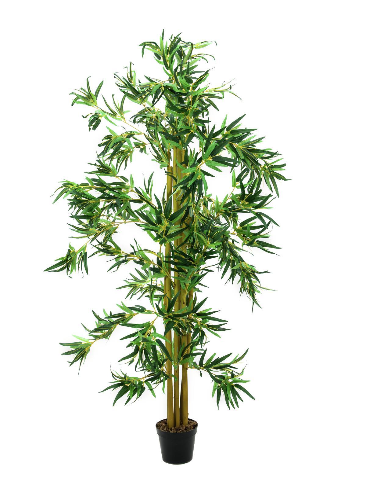 EUROPALMS Bambus Multistamm, Kunstpflanze, 210cm