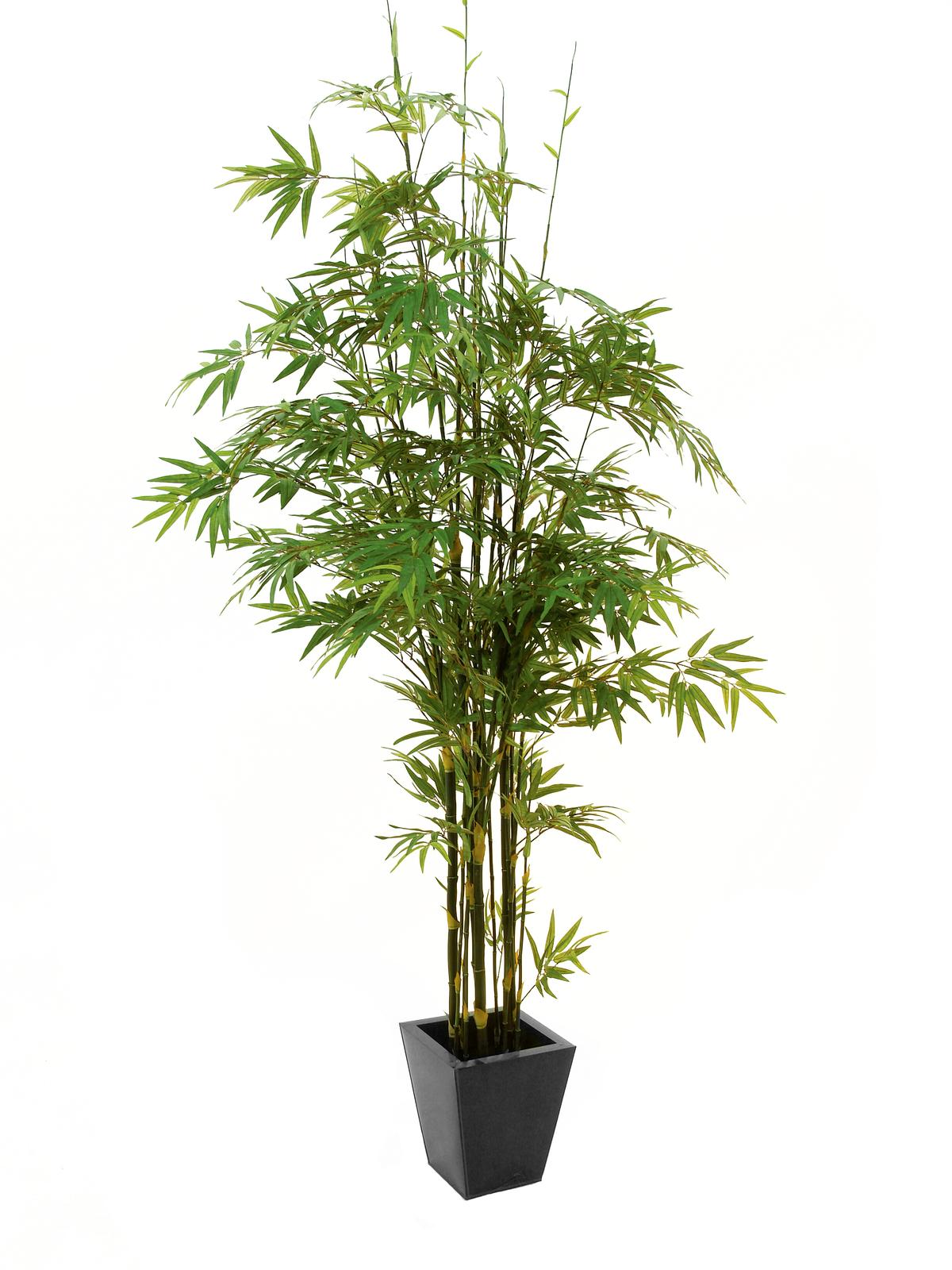 EUROPALMS Bambus Dunkelstamm, Kunstpflanze 240cm
