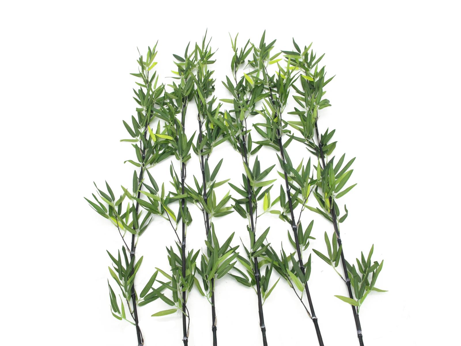 EUROPALMS Bambusstab mit Blättern, künstlich, 180cm, 6er Pack