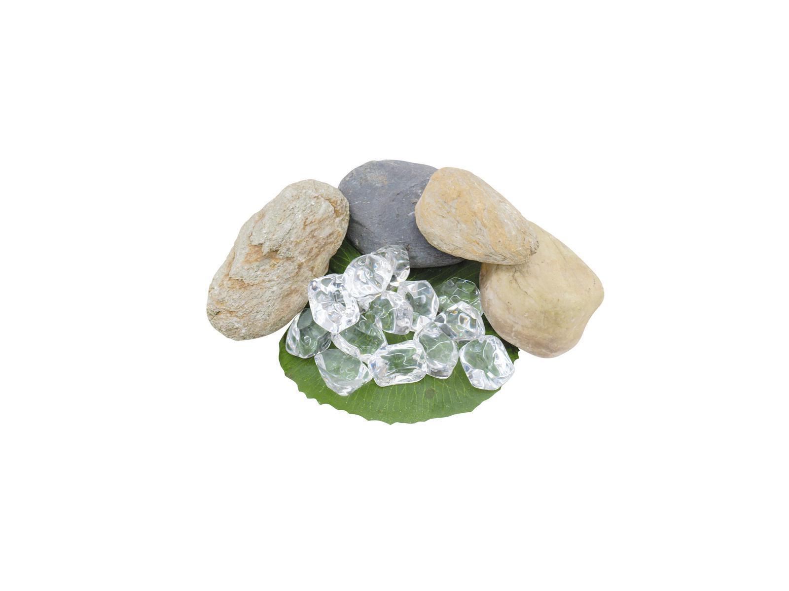 EUROPALMS Acrilico pietre in cristallo, chiaro,35-50mm 8Pc