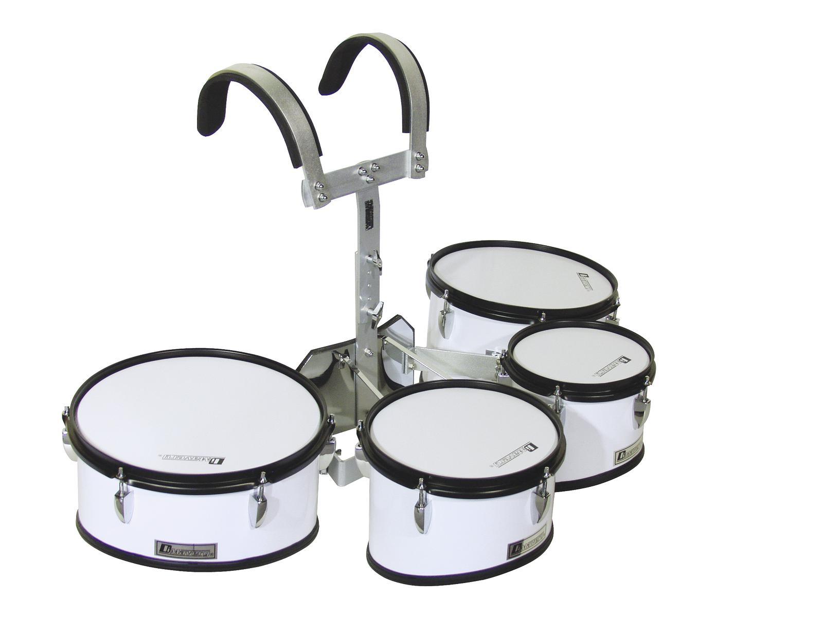 Drum-set da marcia per tamburi, bianco, DIMAVERY MT-430